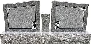 Granite Headstone Double Memorial Die & Base