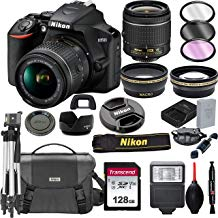 $429 Get Nikon D3500 DSLR Camera with 18-55mm VR Lens + 128GB Card, Tripod, Flash, and More (20pc Bundle)