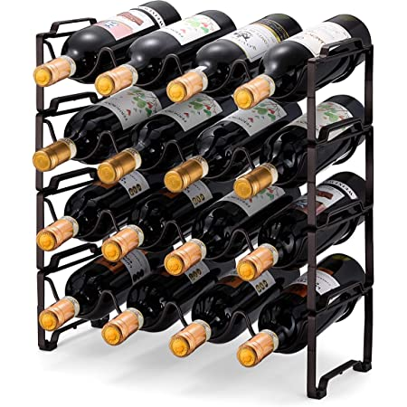 Hold 12 Bottles Metal 3 Tier Stackable Wine Rack Freestanding Floor Wine Racks Countertop for Kitchen Pantry Cabinet Wine Cellar Bottle Holder Storage
