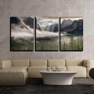 wall26 – 3 Piece Canvas Wall Art – The Sun Peaks Over The Sierras for its..