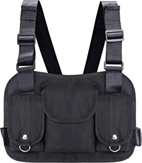 VOCUS Fashion Chest Front Bag Pouch Multipurpose Sport Backpack Daypack Nylon Tactical Chest Rig for Men Women