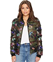 ROMEO & JULIET COUTURE - Quilted Puffy Bomber Jacket