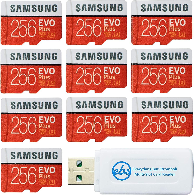 Samsung 256GB Evo Plus MicroSD Card Cheap Beauty products EVO+ 10 Pack Class Bundle