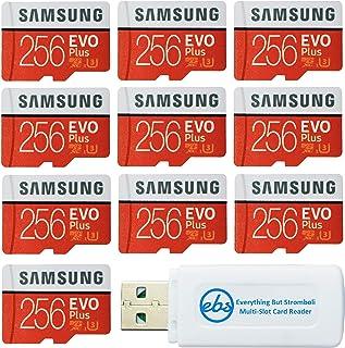 بطاقة ذاكرة من أجل Samsung 256 جيجا بايت Evo Plus MicroSD (10 حزم EVO+ حزمة) الفئة 10 SDXC مع محول (MB-MC256G) مع (1) كل ش...