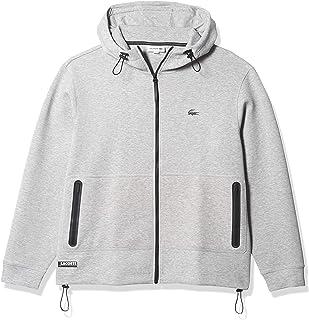 Men's Long Sleeve Full Zip Drawstring Hoodie Sweatshirt