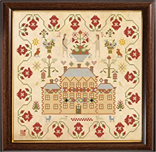 Antique 18th Century Brick House Cross Stitch Sampler Reproduction Cross Stitch Counted Chart PDF on CD Unique Easy to Make Vintage