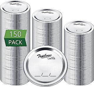150 - Count,Regular Mouth Canning Lids for Ball, Kerr Jars - Split-Type Metal Mason Jar Lids for Canning - Food Grade Mate...