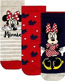 Disney, Calcetines Paquete de 3 para Niñas Minnie Mouse