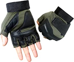 Campstoor Tactical Half Finger Gloves for Cycling Motorcycle Workout Hiking Camping Powersports Airsoft Paintball
