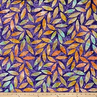 FreeSpirit Fabrics Kaffe Fassett Artisan Tumbling Leaf Fabric, 1, Purple, Fabric by the Yard