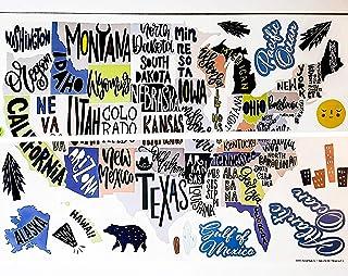 USA-United States Art Individual Peel & Stick Wall Stickers