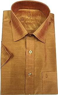 RajaVivaha Men's ArtSilk Halfsleeve Formal Shirt