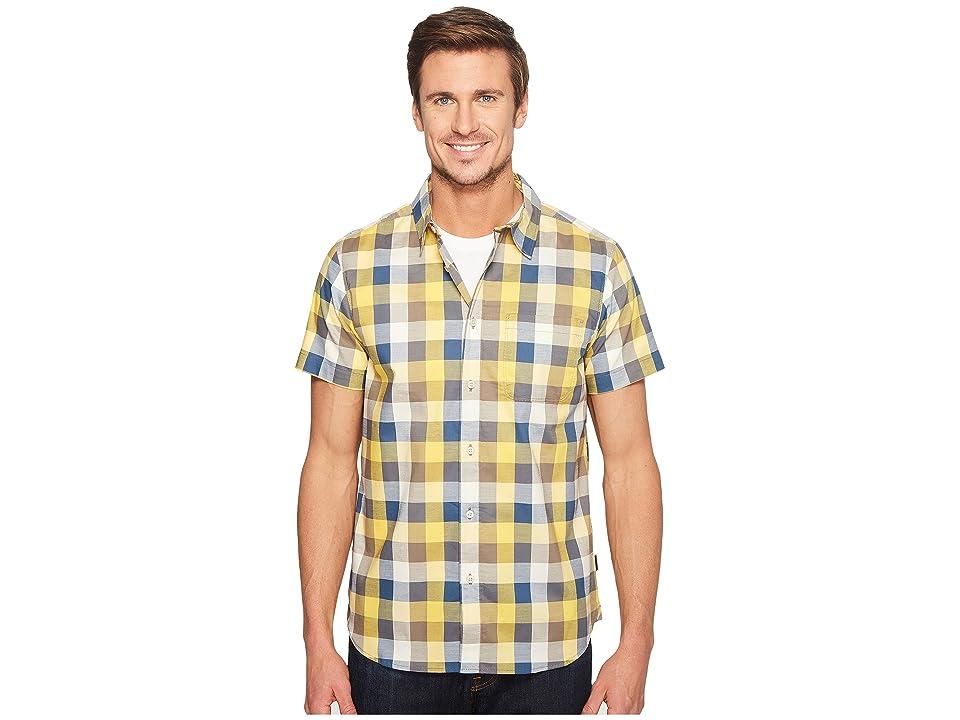 The North Face Short Sleeve Road Trip Shirt (Falcon Brown Plaid (Prior Season)) Men