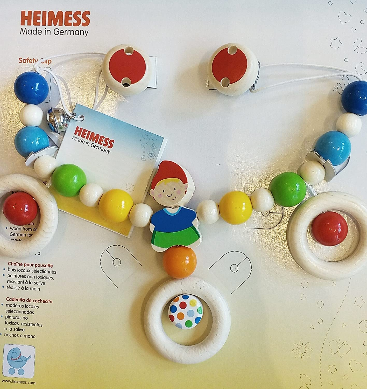 Heimess - Chain for Pushchair with Hanging Dwarf Clips (765040)