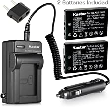 Kastar New Charger + 2 Battery for Kodak KLIC-5001 and Easyshare P712 P850 P880 Z730 Z760 Z7590 DX6490 DX7440 DX7590 DX7630 Sanyo DB-L50 DMX-WH1 HD1010 FH11 HD2000 VPC-WH1 HD2000 HD1010 HD1000