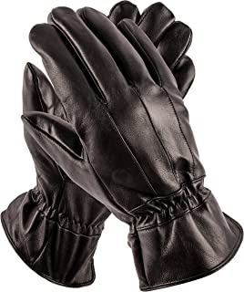 Pierre Cardin Mens Leather Gloves - Luxury Driving Gloves - Perfect as Winter Gloves