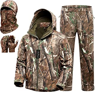 New View Quiet Hunting Clothes for Men, Camo Hunting...