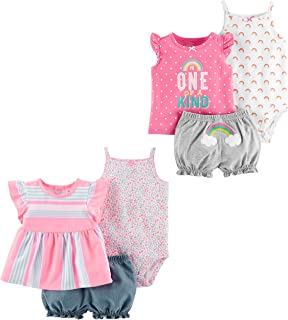 Carters Baby Girls 6-Piece Bodysuit Tee and ...