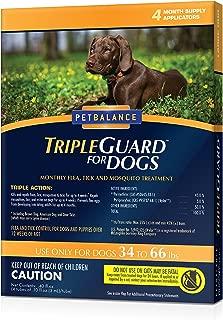 PetBalance TripleGuard Flea & Tick Treatment for Dogs, 4 Month Supply