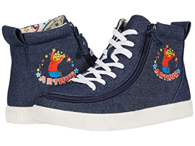 BILLY Footwear Kids Classic Lace High Arthur Celebration (Little Kid/Big Kid) (Blue Denim) Kid