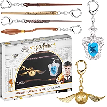 Harry Potter Keychains 6 Pc. Set – Includes Harry Potter, Nimbus 2000, Ginny Weasley Wand & More – Harry Potter Gifts, Merch, Accessories, Party Favors by PMI