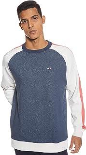 Tommy Jeans Men's Tjm Contrast Sleeve Script Crew Sweatshirt