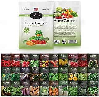 Survival Garden Seeds Home Garden Collection II Vegetable Seeds Vault - بذرهای باغ بقا برای گیاهان غیر GMO - بسته بندی ضد آب برای ذخیره سازی طولانی مدت - 30 نوع سبزیجات
