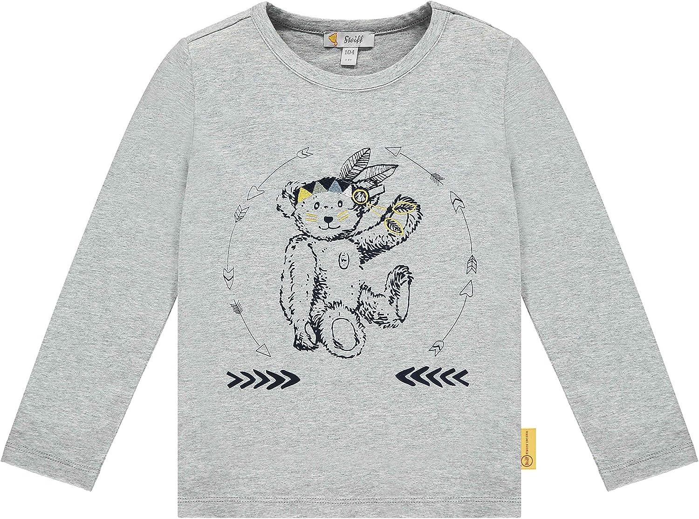 Steiff Mit S/ü/ßer teddyb/ärapplikation T-Shirt /à Manches Longues Gar/çon