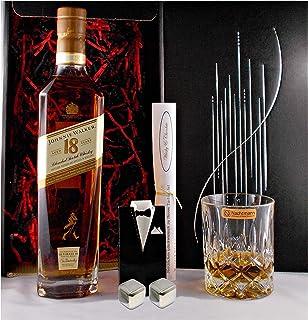 Geschenk Johnnie Walker 18 Jahre Ultimate scotch Whisky  Glas  2 Whiskey Kühlsteine