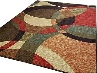 65f80a7d502 Custom Size Runner Multicolor Contemporary Circles Non-Slip (Non-Skid)  Rubber Back