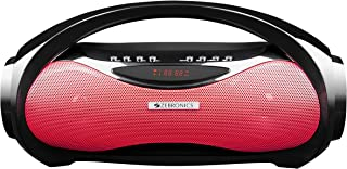 Zebronics Zeb-Axel Portable BT Speaker with, mSD, USB, AUX, FM,Mic & Dual Drivers (Red)