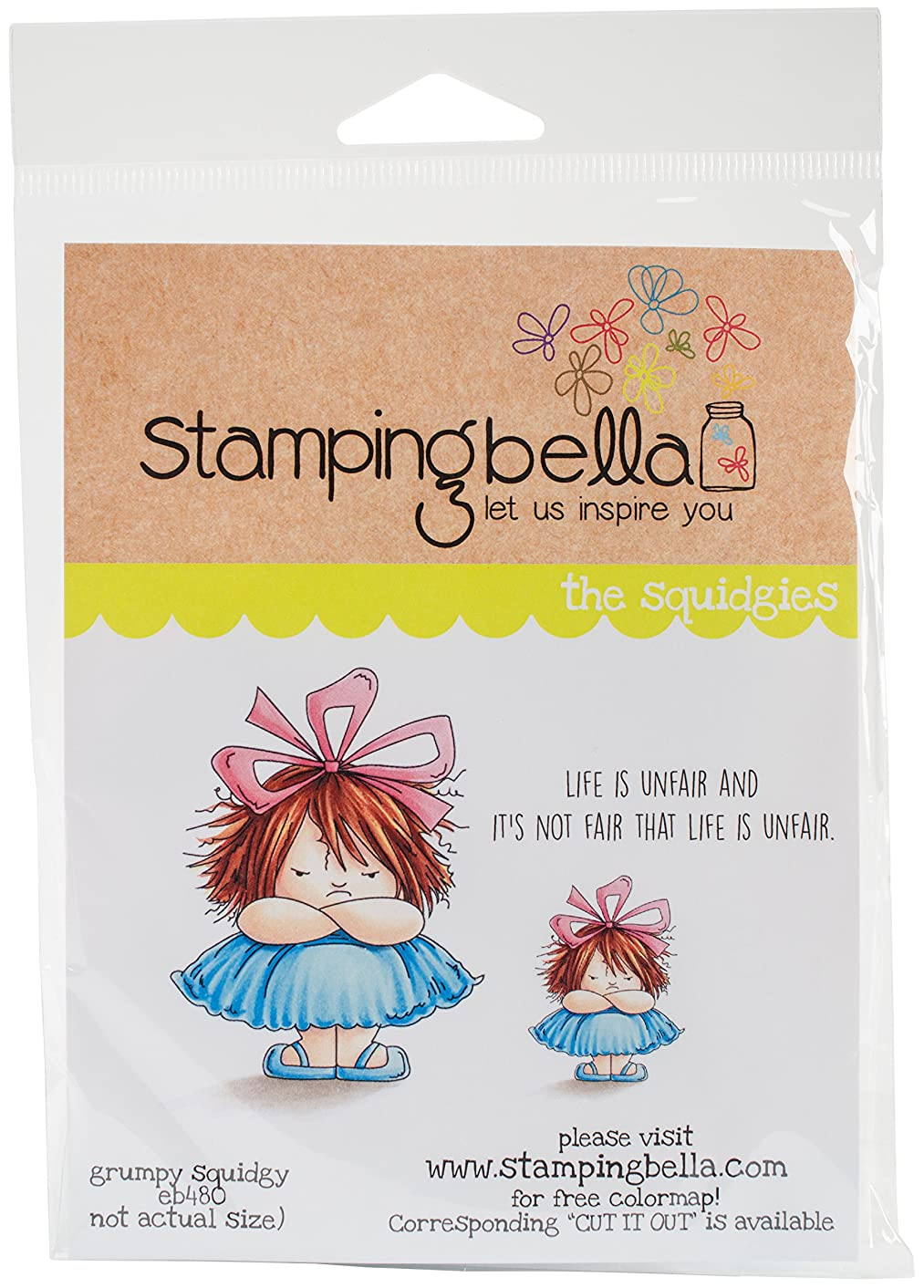 Stamping Bella EB480 Cling Stamps-Grumpy Squidgy