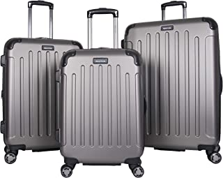 Renegade 3-Piece Lightweight Hardside Expandable 8-Wheel Spinner Travel Luggage Set: 20
