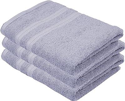 Lyf Essentials 460 GSM Set of 3 Piece Cotton Bath Towels - Blue