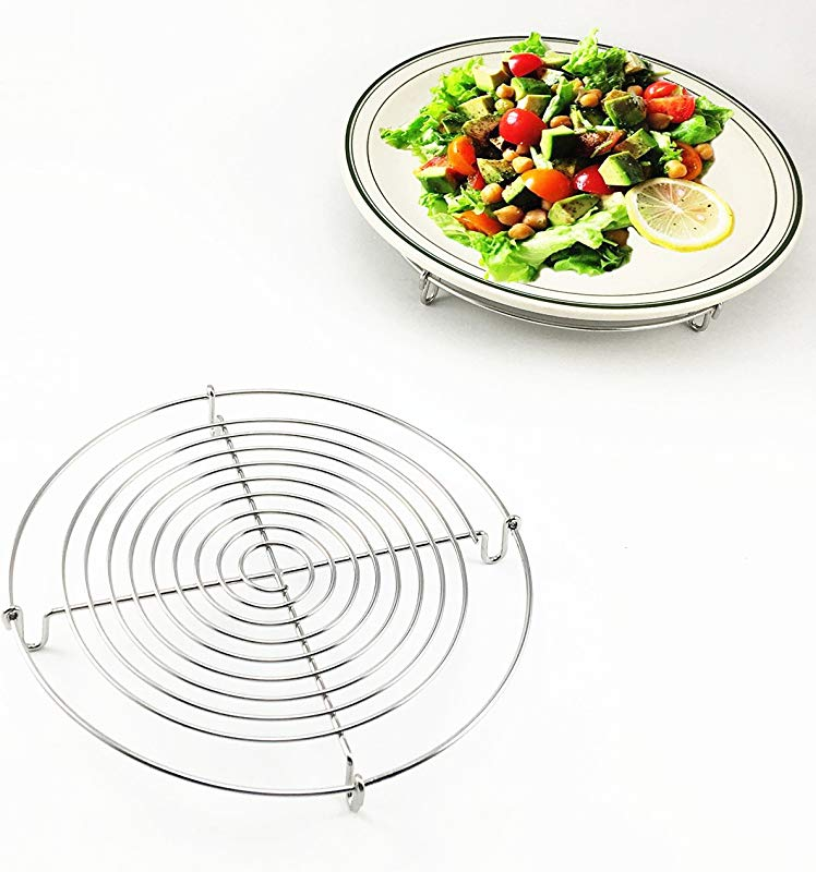 Wire Steamer Kettle Rack Holder Fit For All Pots Pans Up To 4L Cookware Easy Cooking Steaming Vegetables Foods Small Dia 5inch