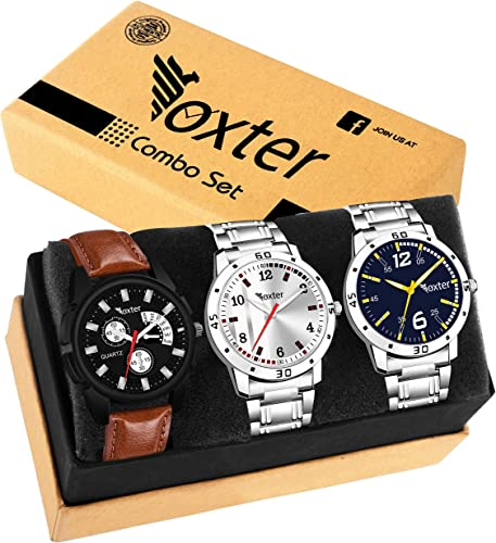 Foxter 3 Different Colour Watch Combo
