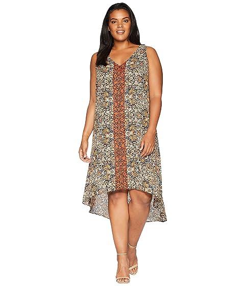 KAREN KANE PLUS Plus Size V-Neck Hi Lo Dress, Print