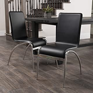 Christopher Knight Home (Black) Enola Furniture ~ Modern Design Dining Chairs (set of 2)