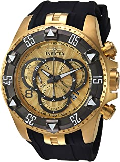 Men's Excursion Stainless Steel Quartz Watch with Silicone Strap, Two Tone, 31 (Model: 24276)
