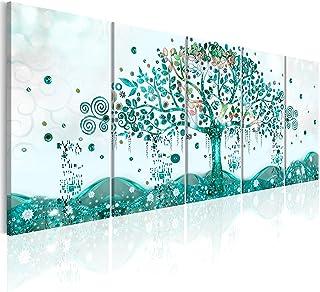 comprar comparacion murando - Cuadro en Lienzo Arbol Klimt 225x90 cm Impresión de 5 Piezas Material Tejido no Tejido Impresión Artística Image...
