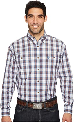 Wrangler - Long Sleeve George Strait Two-Pocket Plaid