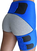 Hip Brace - Groin Support for Sciatica Pain Relief Thigh Hamstring Quadriceps Hip Arthritis SI Joint Injuries Hip Flexor Pulled Muscles - Compression Groin Wrap - Best Sciatic Brace Belt Men Women