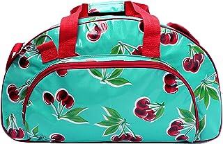IKURI Weekender Wasserdicht - Sporttasche Reisetasche Saunatasche Handgepäck für Reise am Wochenende Duffel Tragetasche Schultertasche Multifunktion Kompakt Daybag - Design Cerezas Türkis