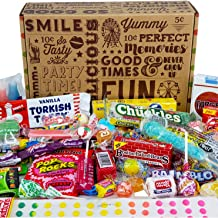 VINTAGE CANDY CO. HAPPY BIRTHDAY NOSTALGIA FUN CANDY CARE PACKAGE - Retro Candies Assortment Variety - GAG GIFT BASKET - PERFECT For Adults, College Students, Military, Teens, Man, Woman, Boy or Girl
