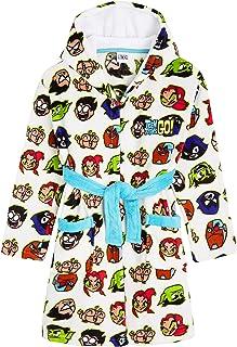 Teen Titans Go! Albornoz Niños, Bata para Casa de Forro Polar con Capucha, Albornoz Niño de Superheroes Jovenes Titanes, R...