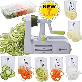 Brieftons 7-Blade Spiralizer: Strongest-and-Heaviest Duty Vegetable Spiral Slicer, Best..