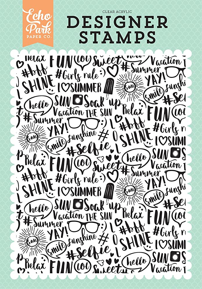 Echo Park Paper Company Summer Vibes A2 Background Stamp