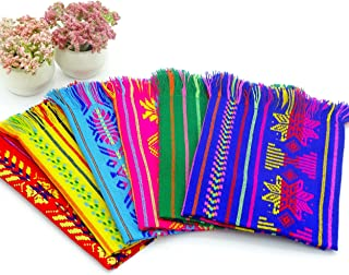 Mexican Fiesta Cloth Napkins, Fiesta Party Supplies in Assorted Colors, Bulk Set of 6 for Cinco de Mayo, Mexican Weddings, Coco Size 14x20