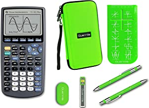 $99 » Texas Instruments TI-83 Plus Graphing Calculator + Guerrilla Zipper Case + Essential Graphing Calculator Accessory Kit (Green)