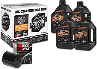 Maxima Racing Oils 90-069014B Quick Evo-Sportster Mineral 20W-50 Black Filter Engine Oil Change Kit, 128. Fluid_Ounces